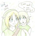 Link and Saria by LoZ-UnknownOrigins