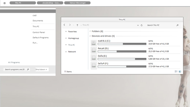 xZmN Theme For Win8/8.1 by Cleodesktop