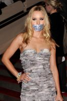 Kristen Bell taped up by ikell