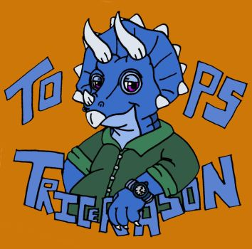 Tops Tricerason (Art Request) by foxgirlKira