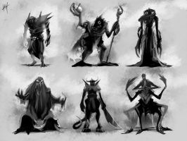 Creature Silhouettes by Kala-A