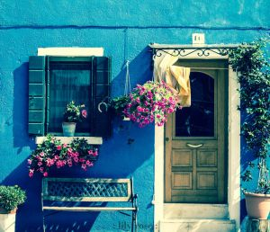 The Blue House.Burano by L1ly-R0s3