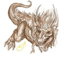 Arc- Manticore Sketch by BLACK-HEART-SPIRAL