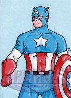 Captain America Sketch Card by ElainePerna