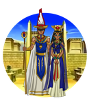 Pharaoh Seth and Queen Isis by AnaPaulaDBZ
