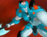 Fighting Chromia by T-M-Wolf