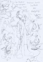 .:Sketch:. New OC, Scaffold the Hedgehog by SilverfanNumberONE