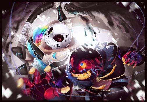 ErrorSans vs. InkSans! by WalkingMelonsAAA