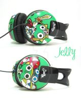 Keroro n Friends Headphone by PoppinCustomArt