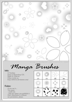 FREE - Manga Brushes by MissDidichan