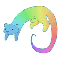 rainbow ferret by Eibrook