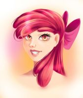 Apple Bloom humanized by fantazyme