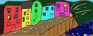 houses on cliff 2 by bebesdupoire