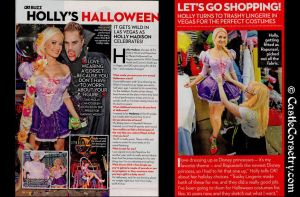 Holly Madison in OK Magazine by CastleCorsetry