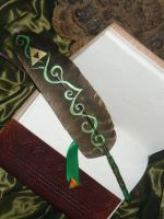 Poets of Hyrule - Painted feather-quill by Ganjamira