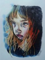 Sharpie and colored pencils by mariaclarascotte