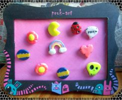 pin-earring display by prok-art
