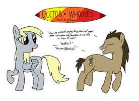 Doctor Whooves and Derpy by fryslan0109