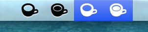 Retina Caffeine menubar icons by JimmyGreen