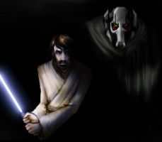 Obi-Wan and General Grievous by Scila