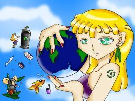 Earth Day by VeeBunny