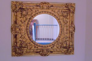 Gilded Gold Mirror by paintresseye