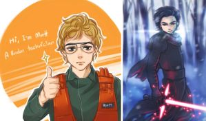 :SW: doodle Kylo [01] by PrinceOfRedroses