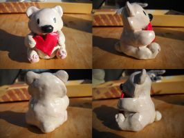 Valentines Day Bear Sculpture by Angelwolf778