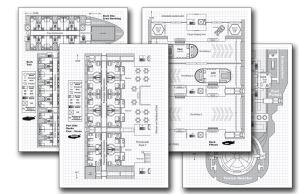 Phoenix Starliner Deckplan Pack (for Traveller) by JayThurman