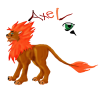 Lion Axel colored by Pearbear31