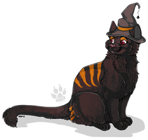 Anatomy witch cat commission by nightspiritwing