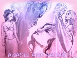 Anakin and Padme by Christine by acrosstars22