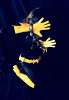 Batgirl Back in Black - Camera Shy! by ozbattlechick