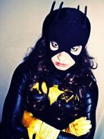 Batgirl Back in Black - Death Stare by ozbattlechick