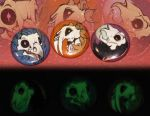 Glow in the Dark Buttons - Skull Animals set 1 by skulldog