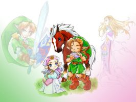 Zelda, Epona, And Link by natanel10
