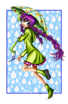 Umbrella Girl Coloured by sojourney