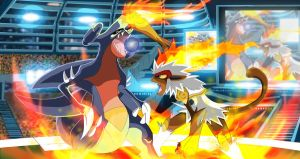 garchomp vs infernape by Capitan-Mark-Antony
