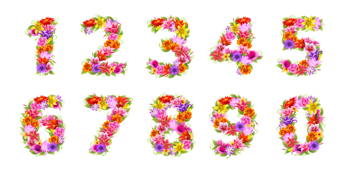 FLoral Numbers by flashtuchka
