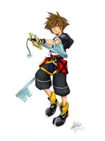 Kingdom Hearts II Sora by sukinorules