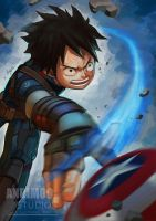 One Piece Avenger Captain Luffy by AndiMoo