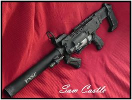 HALO ODST SMG left side view by Sam-Castle