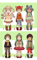 Chibi Adoptables 4 [open/#2 left]-[usd/points] by C-ren