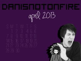Dan Howell April 2013 Calendar by flamingotown