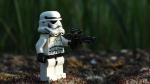Stormtrooper looking out by MarkoMeic