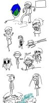 Persona 3 and 4 stuff by Pharos-Chan
