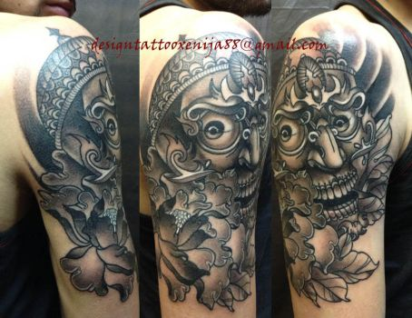 Tattoo - Skull and pion by Xenija88