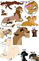 lion adoptables 19 by wolvesanddogs23