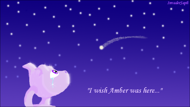Mewtwo Wishes on a Star by InvaderSaph