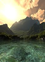 Isla Sorna water closeup by HANxOPX
